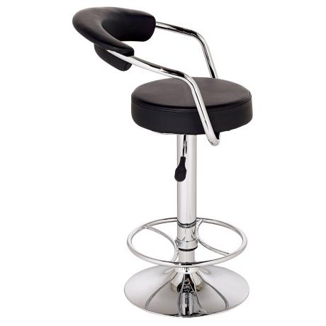 Bingham Black Adjustable Modern Bar Stool or Counter Stool