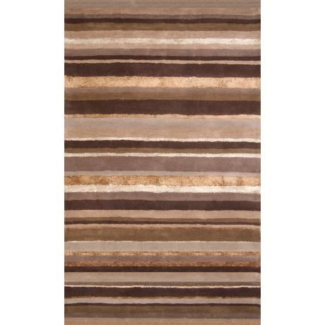 Hickory Brown Stripes Wool Area Rug
