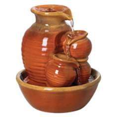 Country Jar Ceramic Table Fountain