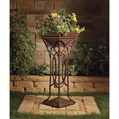 Kichler Cathedral Lighted Standing Outdoor Planter