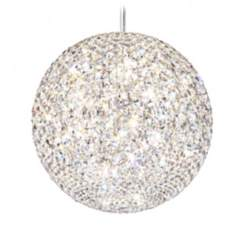 "Schonbek Da Vinci Collection 18"" Wide Crystal Pendant Light"