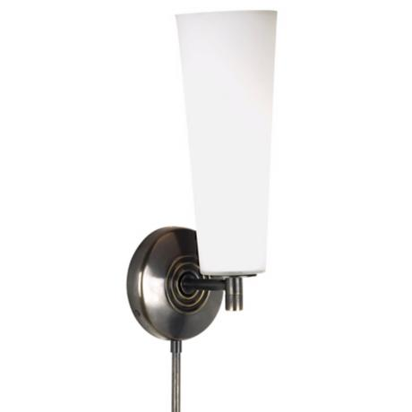 Robert Abbey Marina Collection Bronze Plug-In Wall Lamp