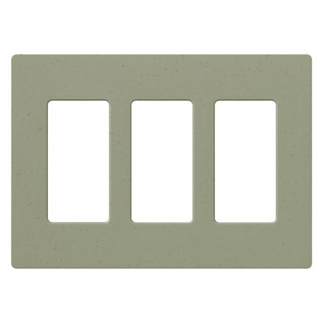Lutron Greenbriar Three Gang Screwless Faceplate