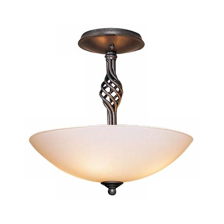 "Hubbardton Forge 13 1/2"" Wide Twist Basket Ceiling Light"