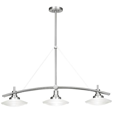 "Structures Nickel 37 1/2"" Wide 3-Light Island Chandelier"