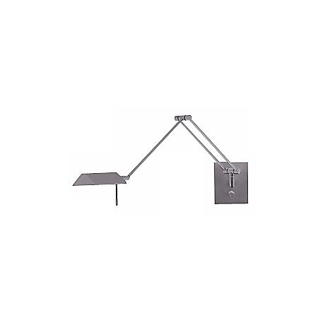 Holtkoetter Bernie Satin Nickel Swing Arm Wall Lamp