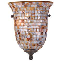 "Monterey Mosaic Malaga Finish 12"" High Pocket Sconce"