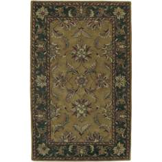 Ancient Treasures Gold Handmade Rug