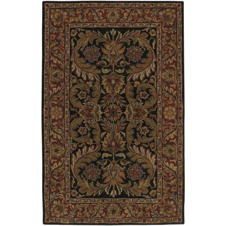 Ancient Treasures Black Handmade Rug