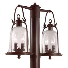 "Owings Mill Collection 21"" Wide Outdoor Double Post Light"