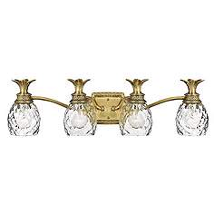 hinkley anana plantation 28 12 wide bathroom light fixture brass bathroom lighting fixtures