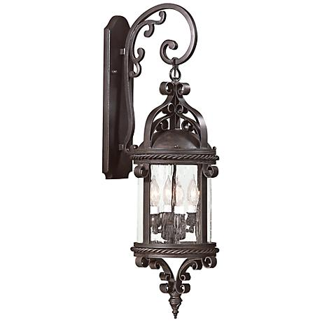 "Pamplona 30"" High Old Bronze Outdoor Wall Light"