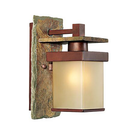 "Slate Stone Collection 11"" High Indoor/Outdoor Wall Sconce"