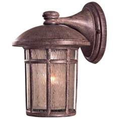 "Cranston 12 3/4"" High Vintage Rust Finish Outdoor Wall Light"