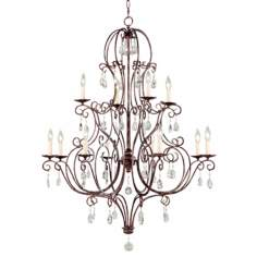 Chateau Collection Mocha Bronze Twelve Light Chandelier