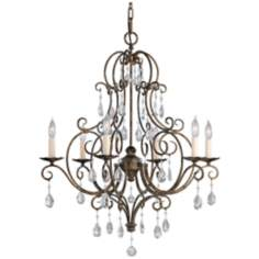 Chateau Collection Mocha Bronze Crystal Chandelier
