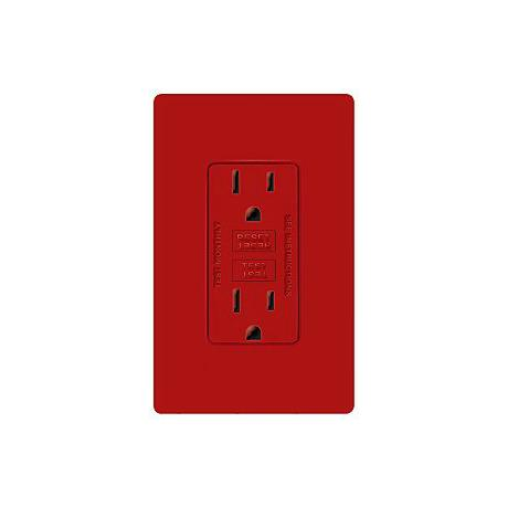 Lutron Diva Hot Red SC 15A 125V GFCI Receptacle