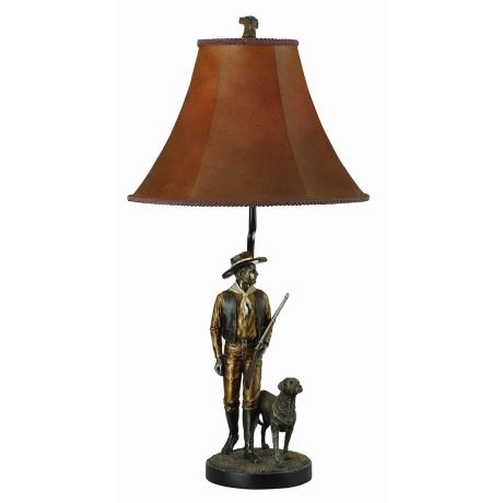Hunter and Dog Table Lamp