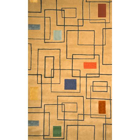 Harvey Contemporary Tan Area Rug