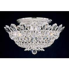 "Schonbek Trilliane Collection 19"" Wide Crystal Ceiling Light"