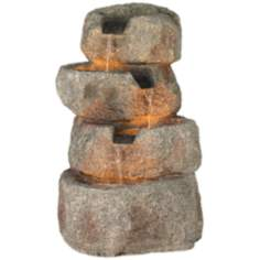 Glacial Rock Lighted Water Fountain