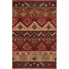 Southwest Burgundy Area Rug