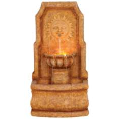 Sun Villa Faux Stone Outdoor Fountain w/Halogen lights