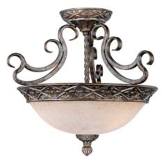 "French Bronze 19"" Wide Ceiling Light Fixture"