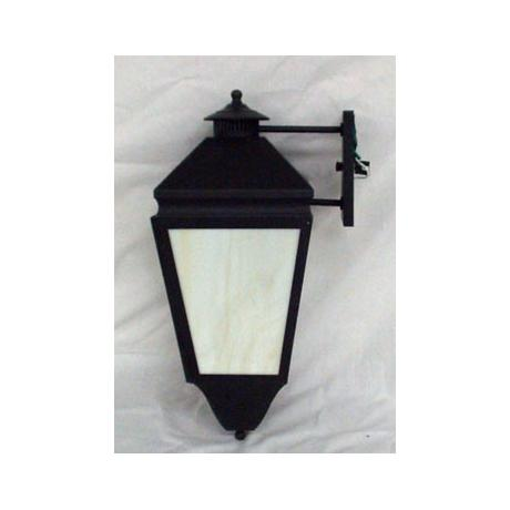 Bronze Finish Honey Glass Outdoor Wall Lantern