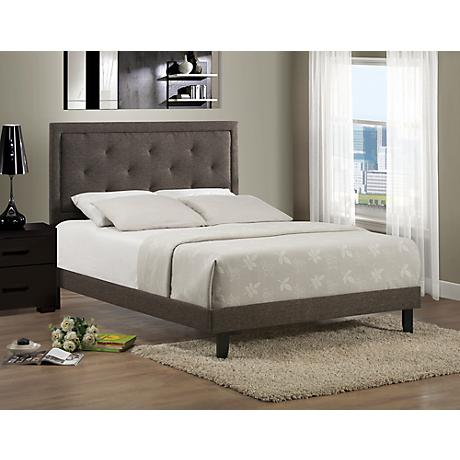 Becker Black/Brown Upholstered Bed