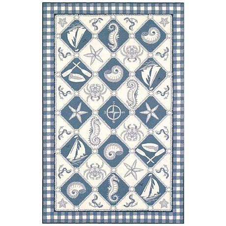 Kas Colonial Blue COL1807 Wool Area Rug
