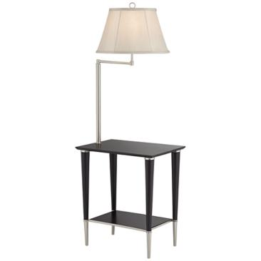 Avril Modern Black End Table Floor Lamp