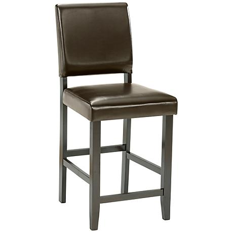 "Hillsdale Arcadia 24 3/4"" Espresso Parsons Counter Stool"