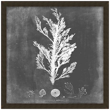 "Black and White Sea IV 20"" Square Giclee Wall Art"