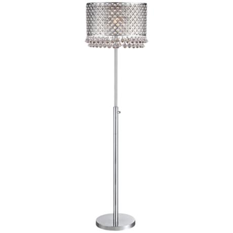 vienna full spectrum carina crystal and chrome floor lamp 5c443. Black Bedroom Furniture Sets. Home Design Ideas