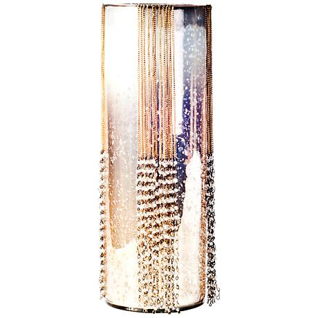 Rojo 16 Costa Brava Medium Beaded Glass Pillar Candle Holder