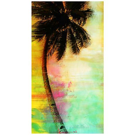 "Colorful Palms I 22"" High Abstract Canvas Giclee Wall Art"