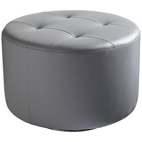 Domani Large Gray Swivel Ottoman