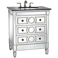 DuVall Mirrored Single Sink Vanity