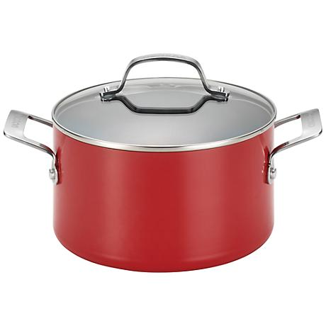 Circulon Genesis Nonstick 4.5-Quart Red Dutch Oven