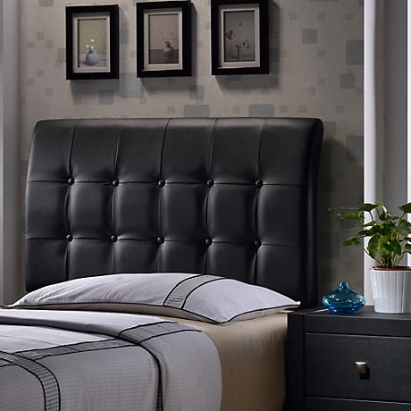 Lusso Black Faux Leather Headboards