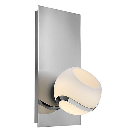 "Hinkley Nova 9 3/4"" High Glass and Chrome Wall Sconce"