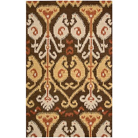 Nourison Siam SIA02 Chocolate Wool Area Rug