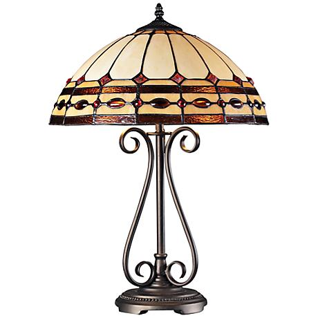 Diamond Ring Copper Tiffany Style Table Lamp