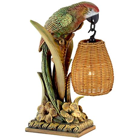 Kathy Ireland Parrot Paradise Lantern Table Lamp