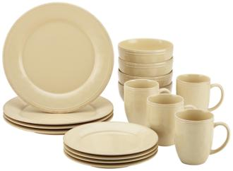 Rachael Ray Cucina 16-Piece Almond Cream Dinnerware Set (5D735) 5D735