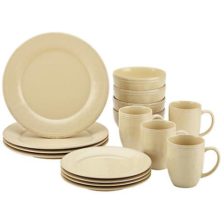 Rachael Ray Cucina 16-Piece Almond Cream Dinnerware Set
