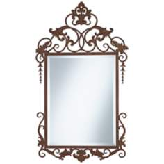 "Beatriz Custom 26"" x 47 1/4"" Metal Wall Mirror"