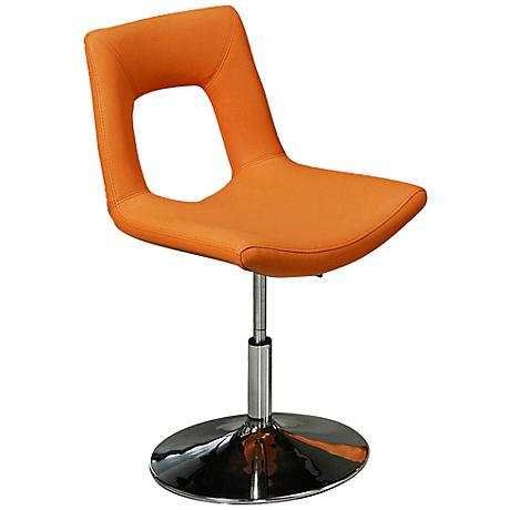 Impacterra Dublin Adjustable Height Orange Side Chair
