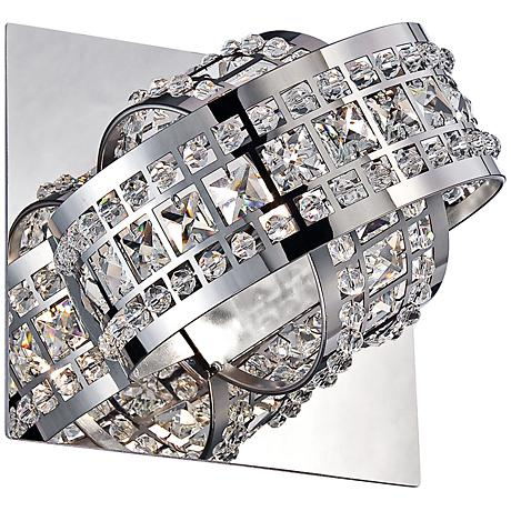 "Yorkville Collection 5 1/2"" High Polished Chrome Sconce"